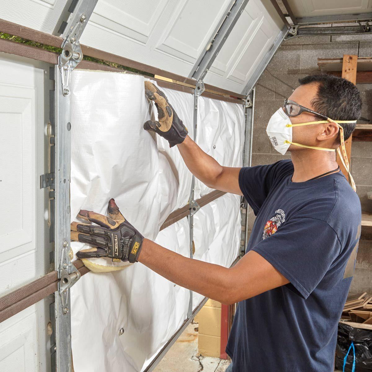 Insulate garage door
