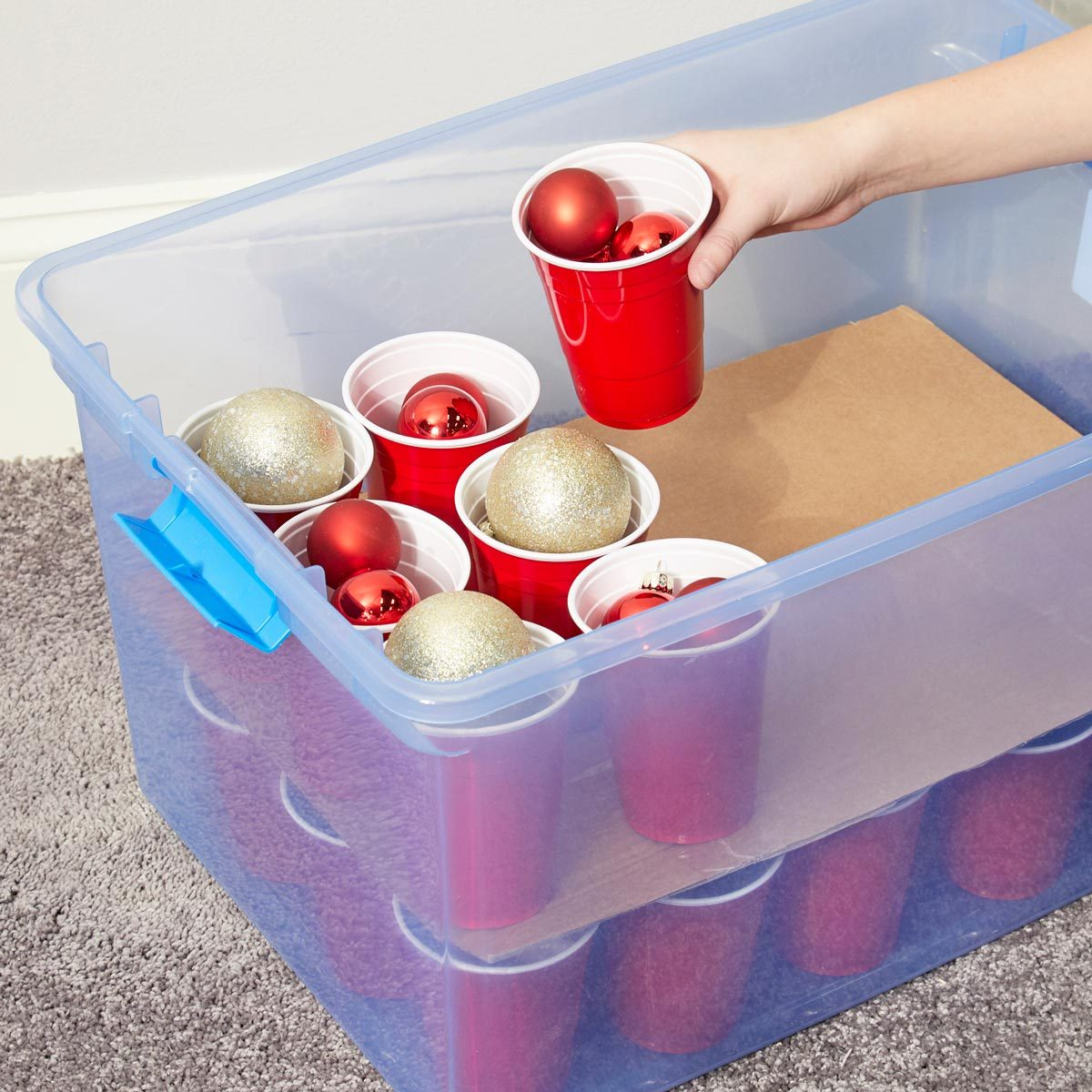 HH handy hint ornament cup storage christmas