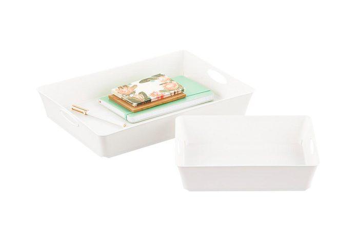 White paper trays