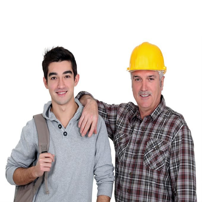 Old man and a young man standing together | Construction Pro Tips