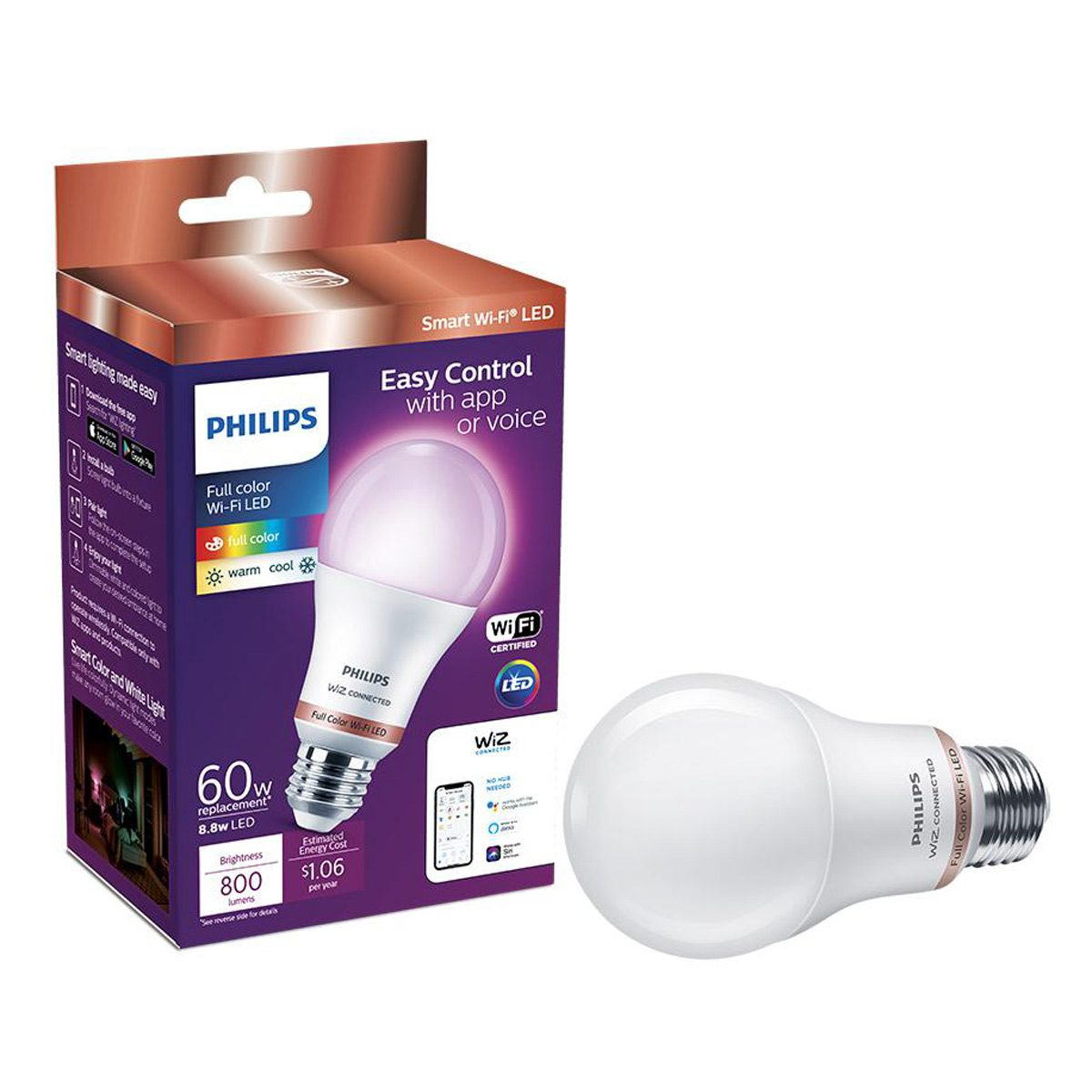 philips led lightbulbs color changing