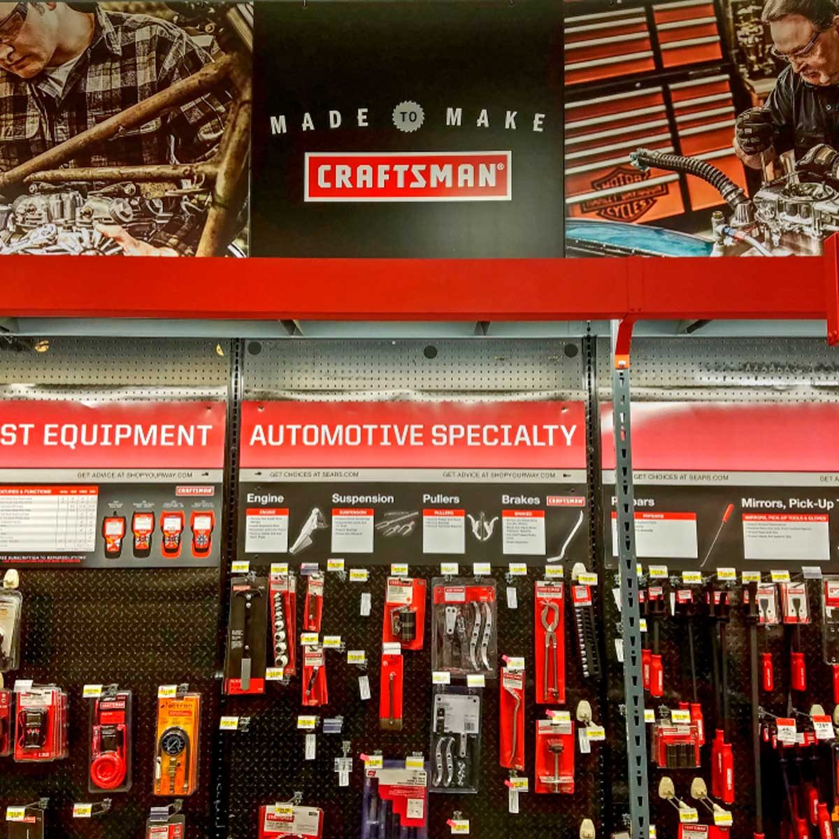 craftsman tool display