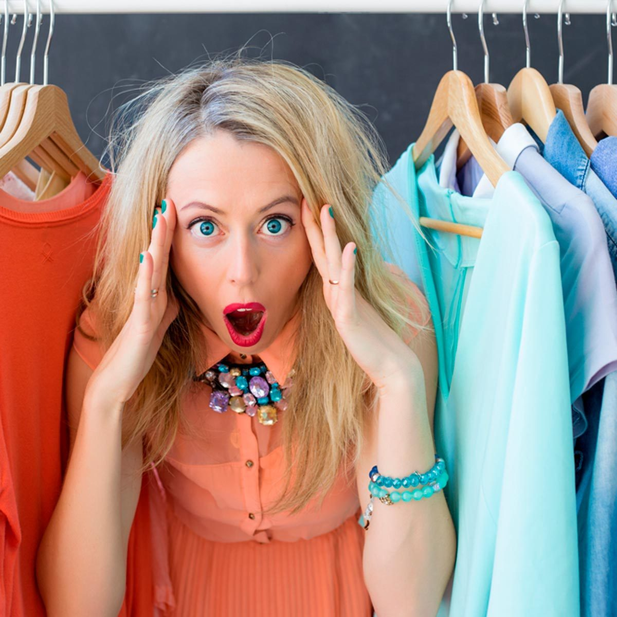 girl inside closet