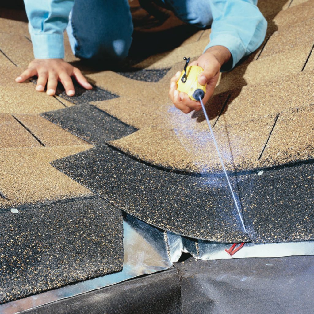 Snapping a chalk line on shingles | Construction Pro Tips