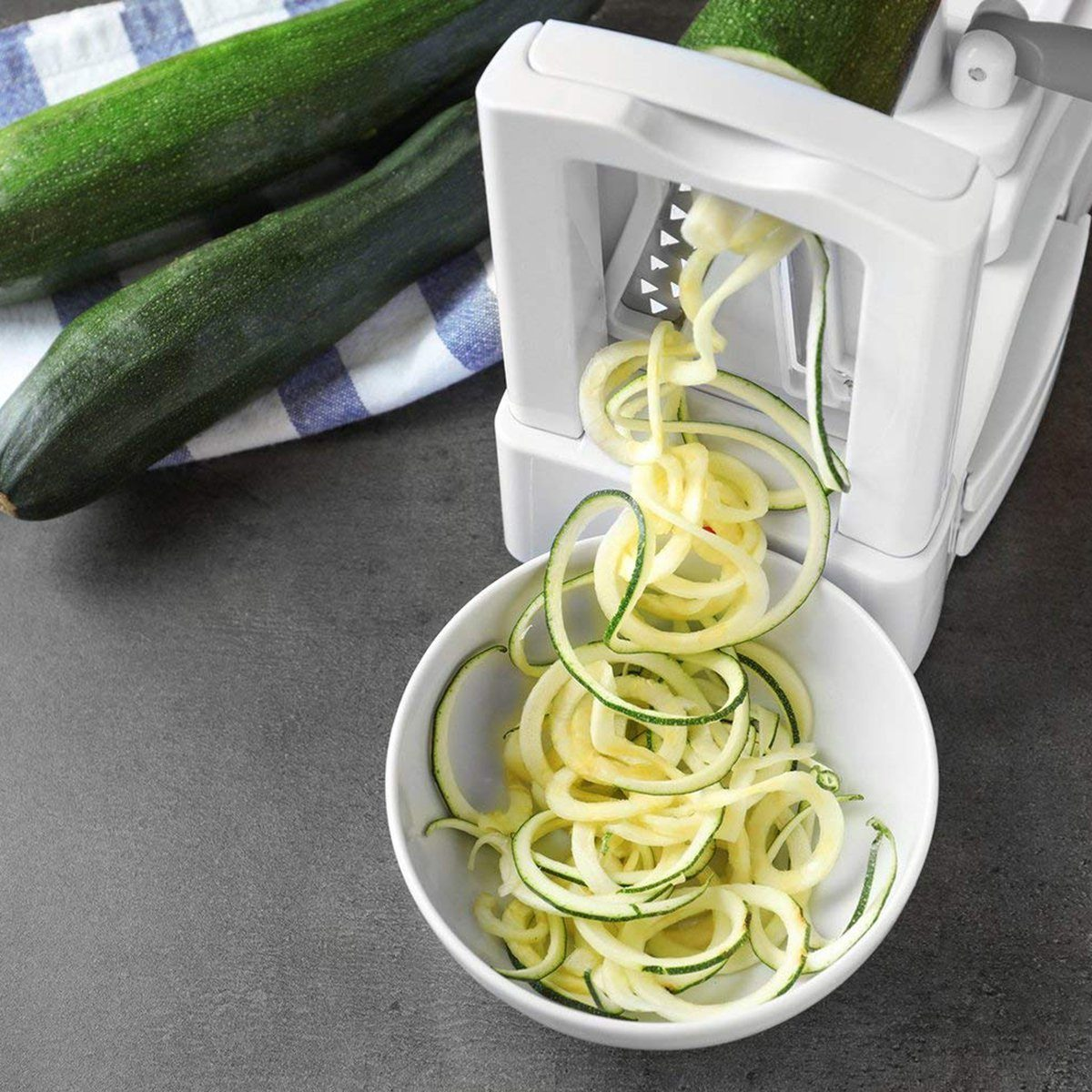 Spiralizer 5-Blade Vegetable Slicer, Strongest-and-Heaviest Duty Spiral Slicer