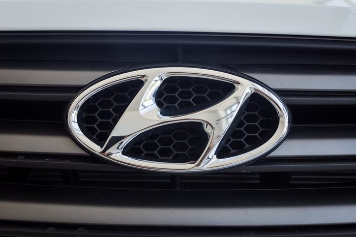 01 of August,2017 - Vinnitsa,Ukraine - logo of the brand HYUNDAI Creta