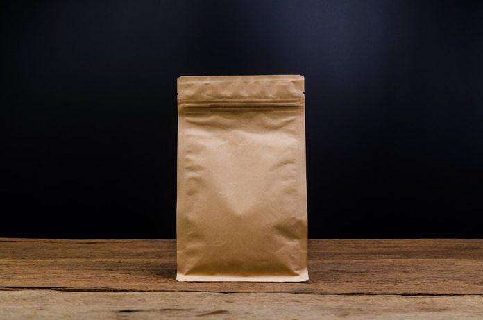 Brown Kraft Paper Bag,Aluminum foil coffee bag