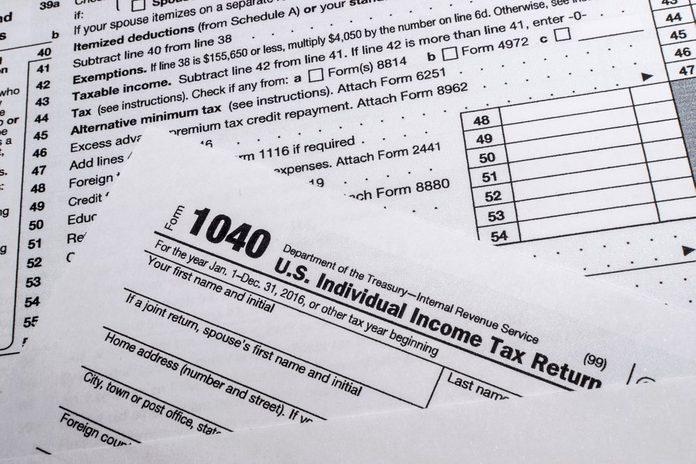 IRS Form 1040: US Individual Income Tax Return