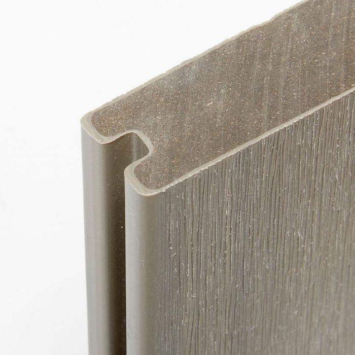 Close up shot of a piece of Newtech decking   Construction Pro Tips