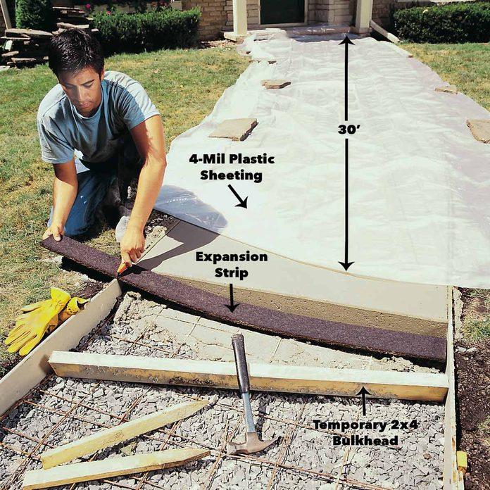 expansion strip concrete sidewalk