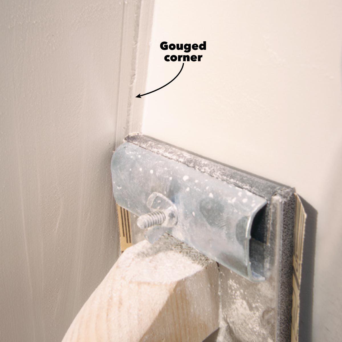 drywall sanding gouged corners