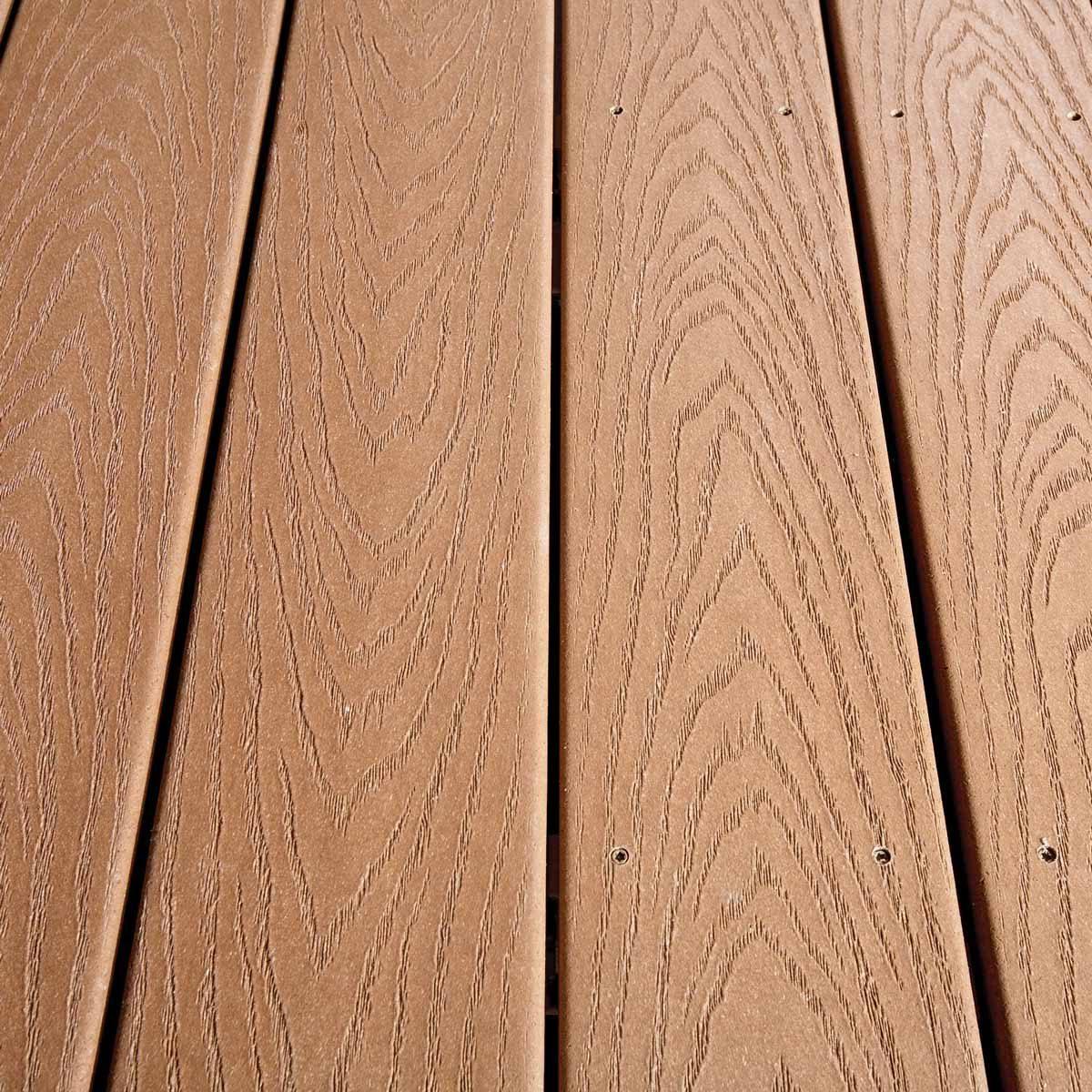 composite deck with hidden screws