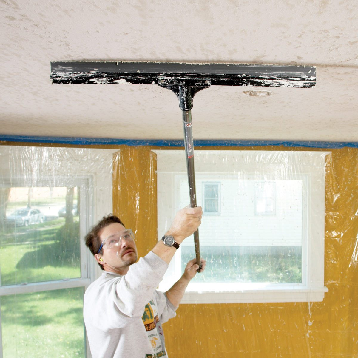 How to Apply Knock Down Texture ceiling
