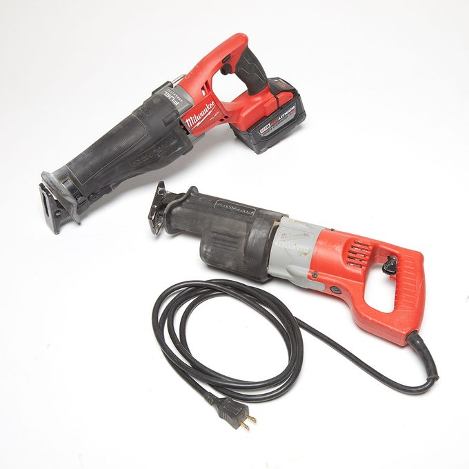 Both a corded and a cordless reciprocating saw | Construction Pro Tips