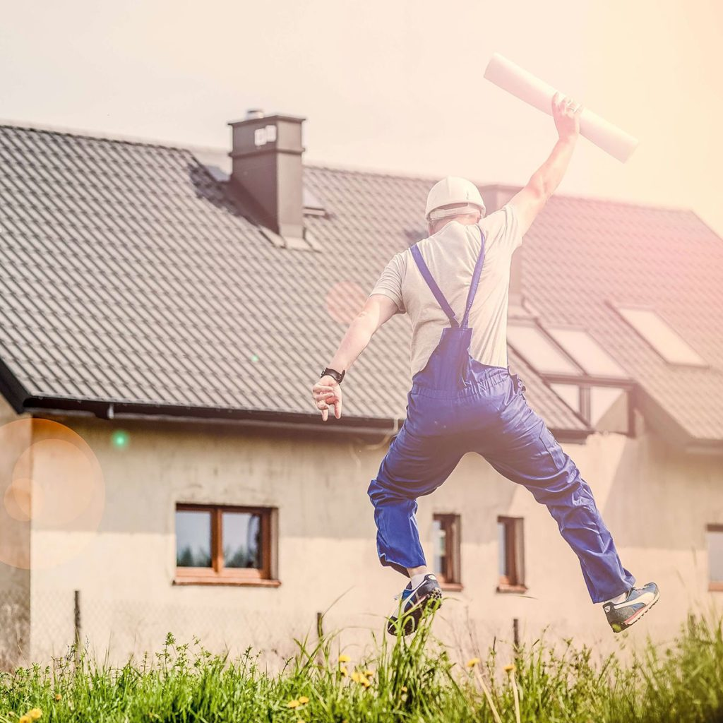 Contractor jumping for joy | Construction Pro Tips