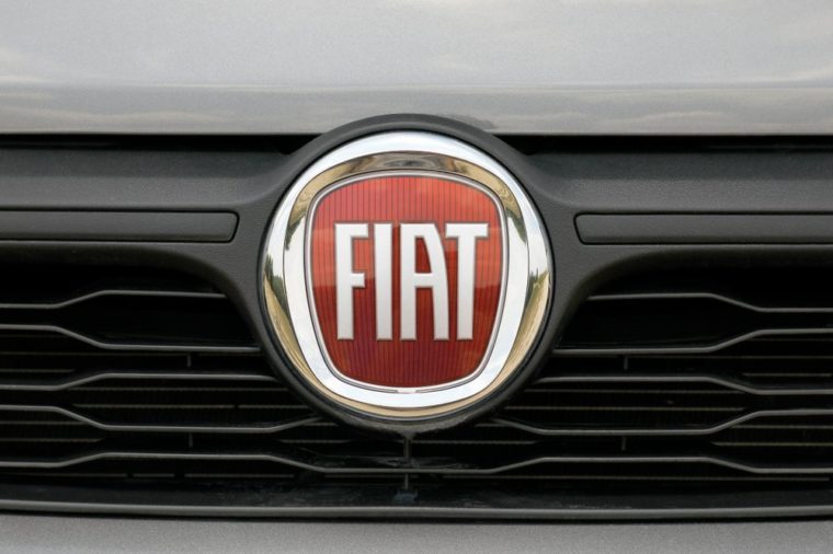 ISTANBUL - DECEMBER 24, 2018: Italian automobile manufacturer Fiat close-up logo.