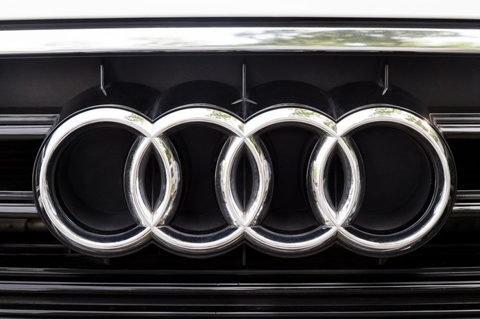 KUALA LUMPUR, MALAYSIA - August 12, 2017: Audi is a German automobile manufacturer that designs, engineers, produces, markets and distributes luxury vehicles. Audi is a member of the Volkswagen Group.