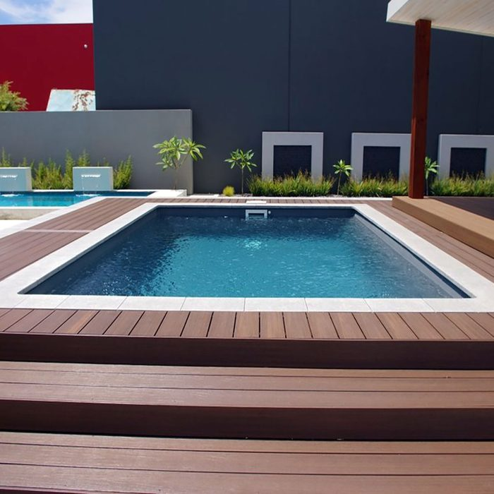 Pool decking done by Newtech Wood   Construction Pro Tips