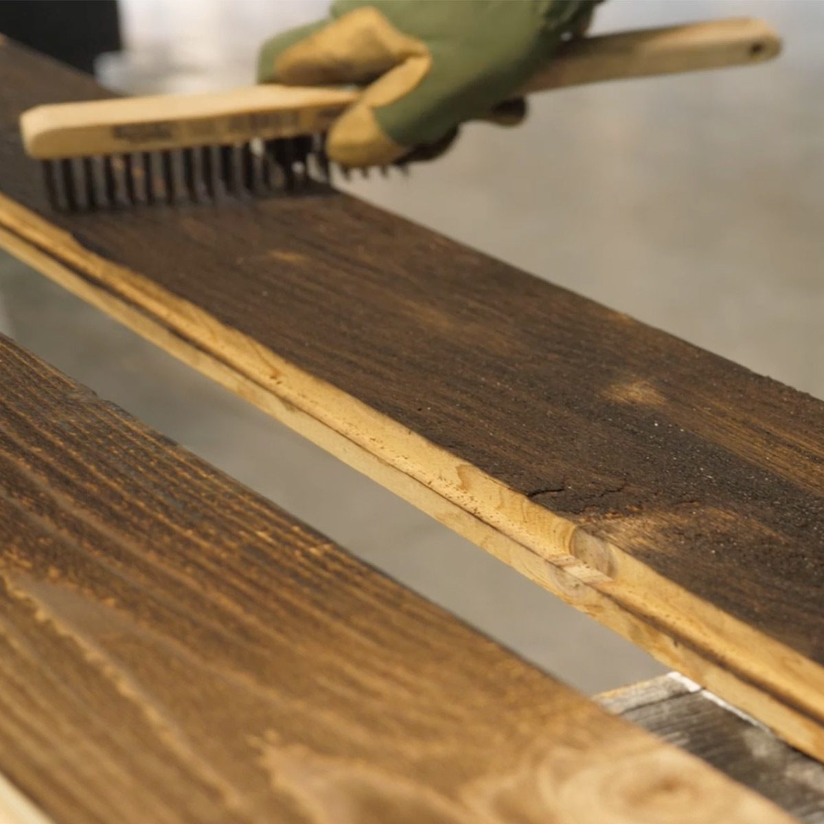 Shou Sugi Ban - finishing the wood