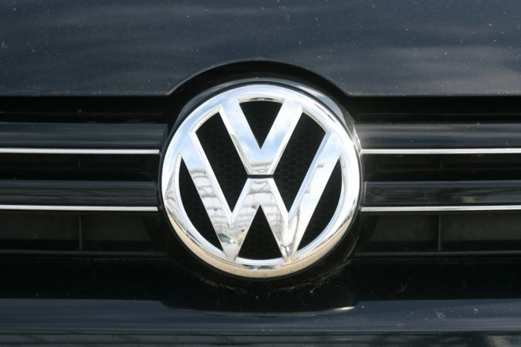 Hamburg, Germany, September 2017, logo of the German automobile manufacturer VOLKSWAGEN