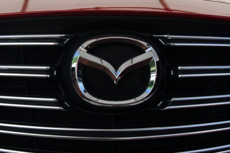 Kiev, Ukraine- June 6, 2018: Mazda car logo