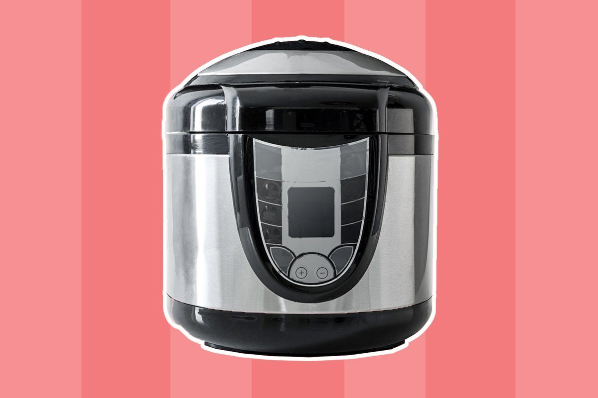 Electric pressure cooker isolated on a white background; Shutterstock ID 340132283