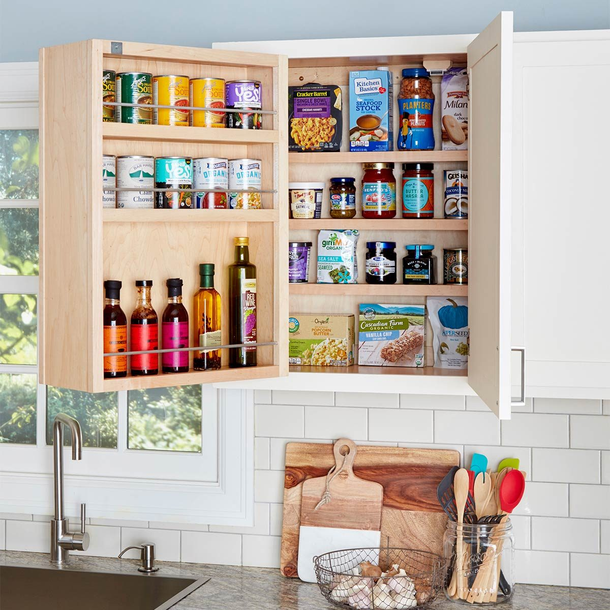 kitchen organization swing out kitchen cabinet