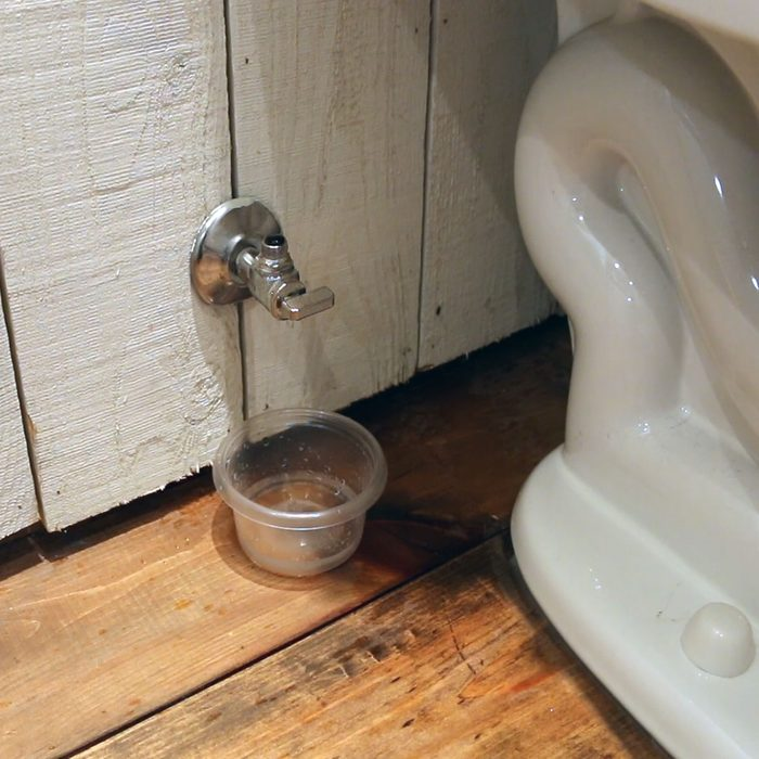 A valve that is leaking next to a toilet | Construction Pro Tips