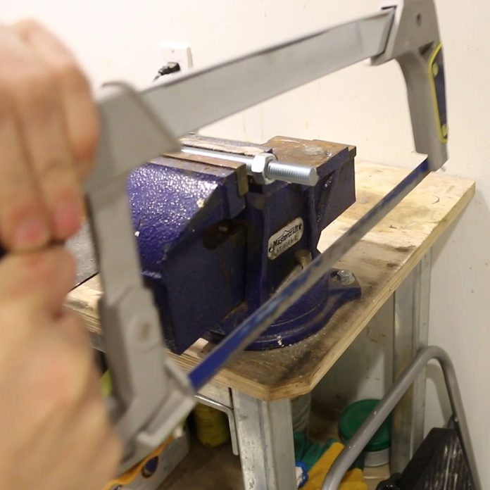 Sawing a rod with a nut already on | Construction Pro Tips
