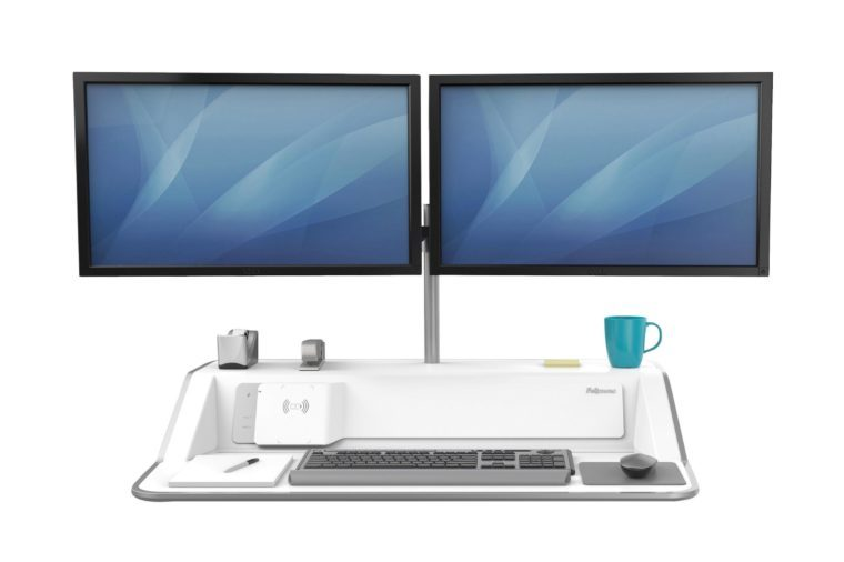 Fellowes, FEL8080201, Lotus DX Sit-Stand Workstation, 1 Each, White