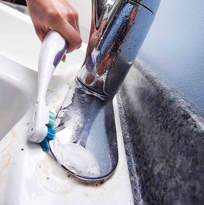 toothbrush cleaning dirty sink