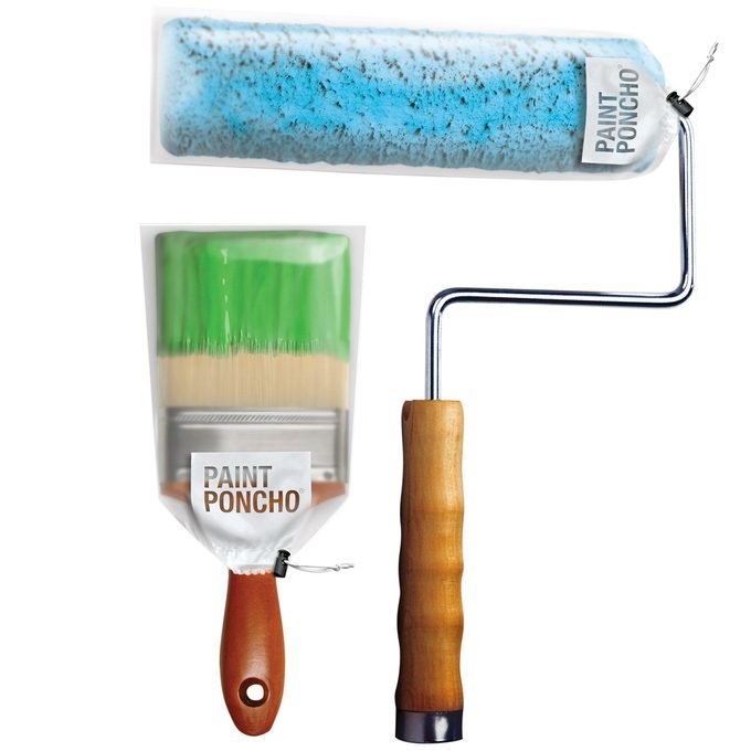 paint brush and roller covers paint poncho