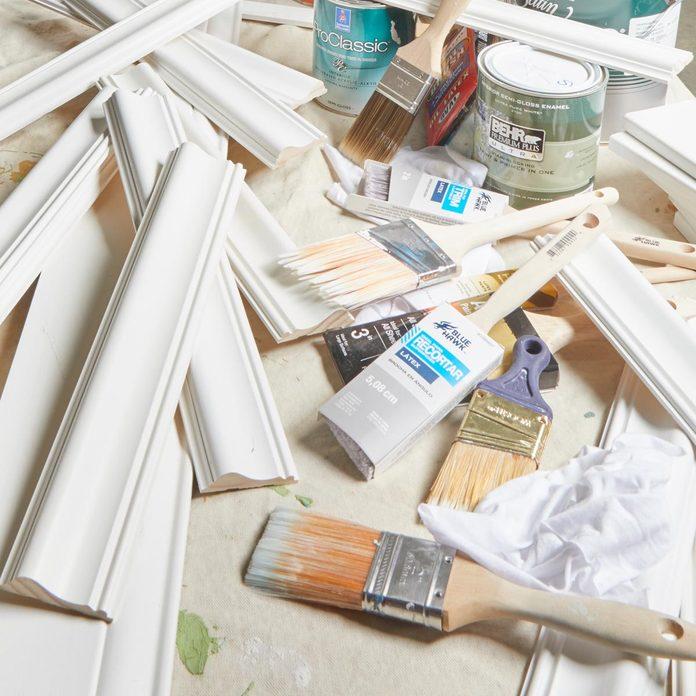 cleanup paint mess trim