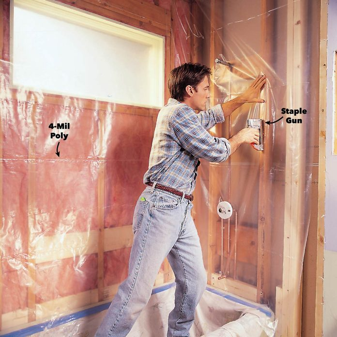 add waterproof vapor barrier