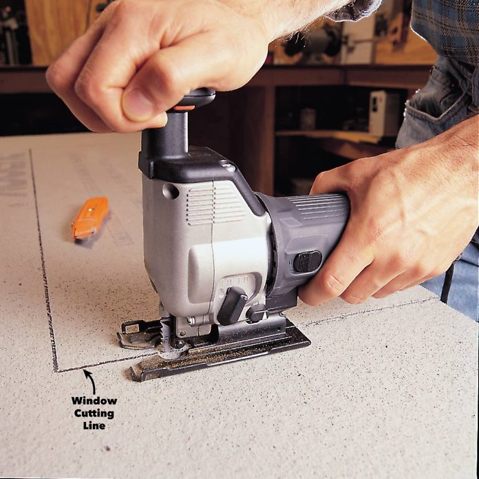 jigsaw to cut cement boards