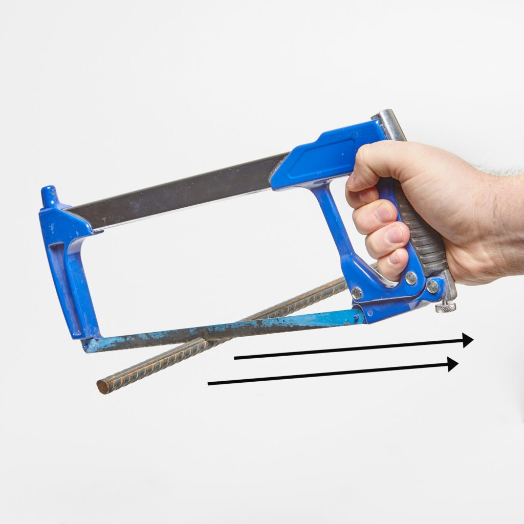 Hacksaw tip for cutting through rebar | Construction Pro Tips