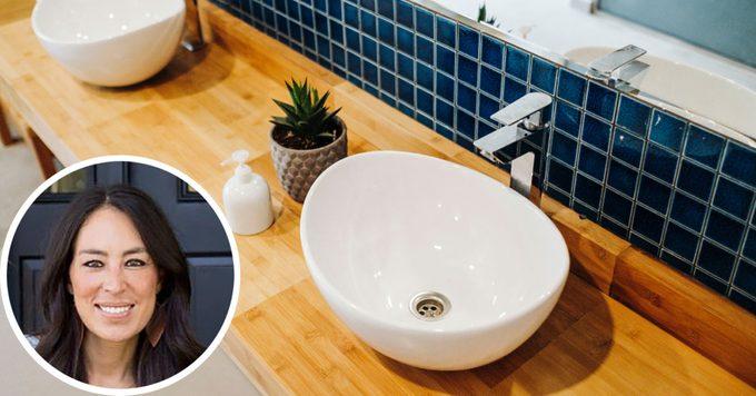 joanna gaines small bathroom tips