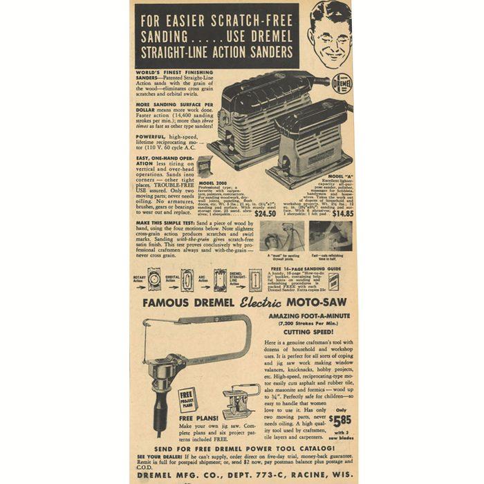 An ad a Dremel Moto-Saw | Construction Pro Tips