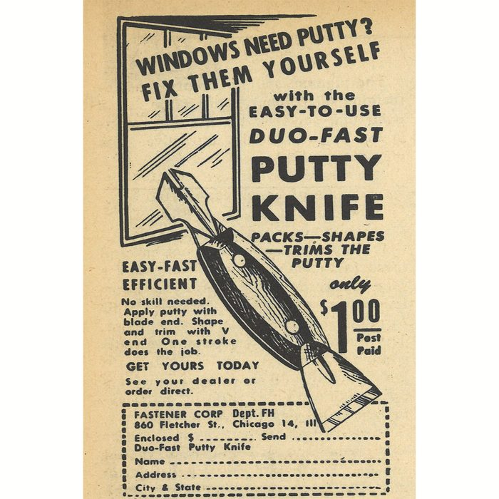 An ad for Duo-Fast Putty Knife | Construction Pro Tips