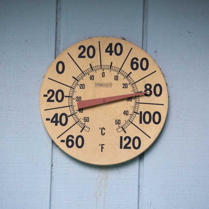 Exterior Wall Thermometer