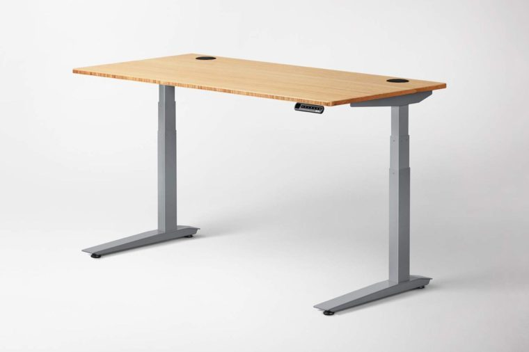 Jarvis Standing Desk Bamboo Top - Electric Adjustable Height Sit Stand Desk - 3-Stage Extended Range Frame with Memory Preset Handset Controller by Fully...