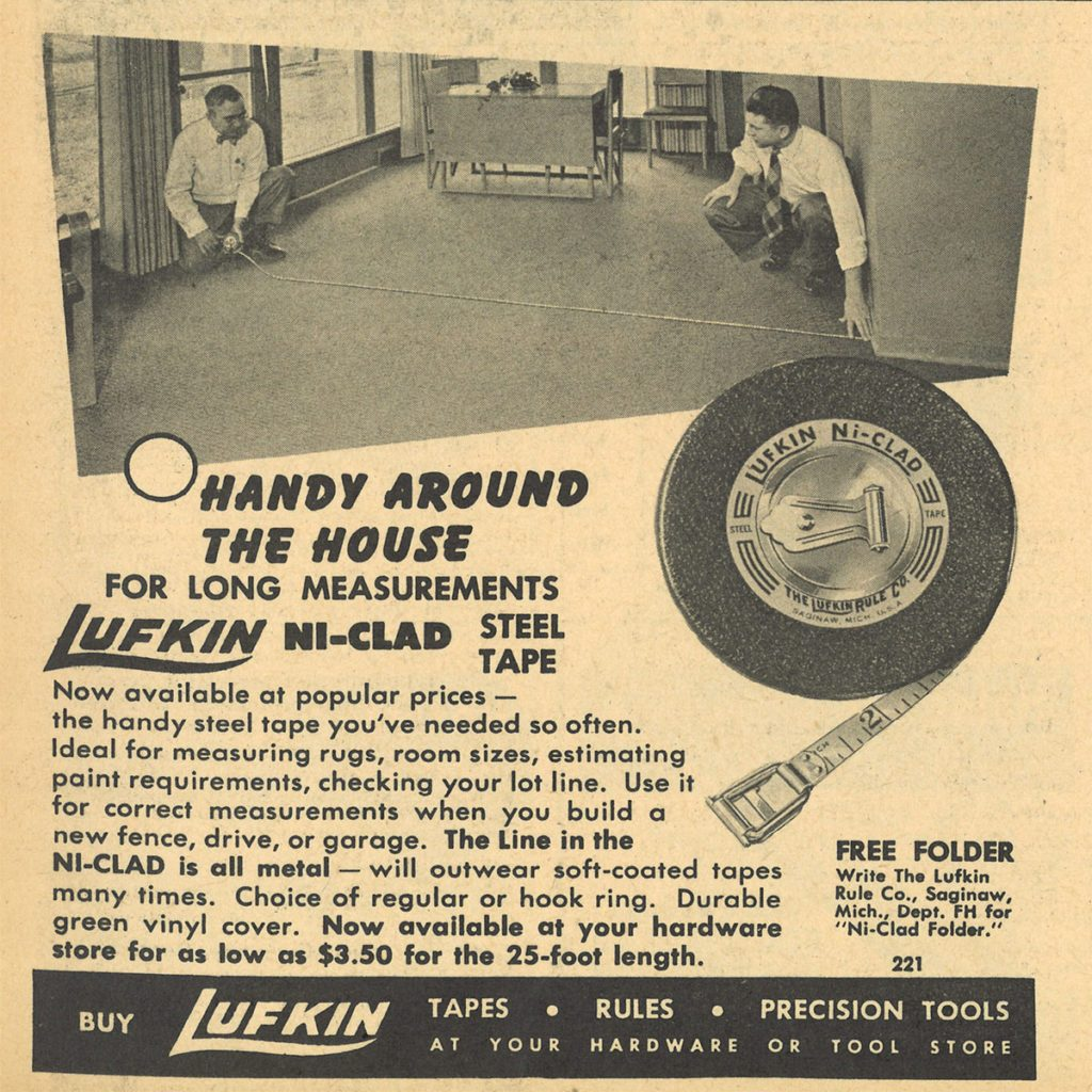 An ad for the Lufkin NiClad Steel Tape | Construction Pro Tips