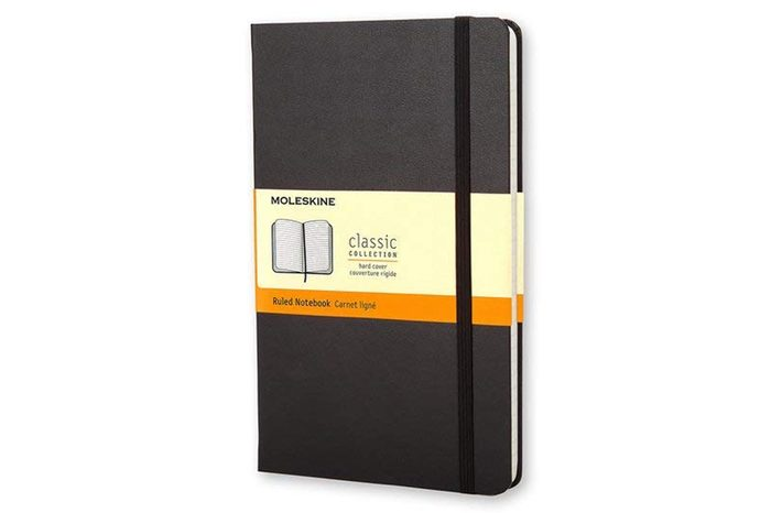 "Moleskine Classic Hard Cover Notebook, Ruled, Large (5"" x 8.25"") Black - Hard Cover Notebook for Writing, Sketching, Journals"