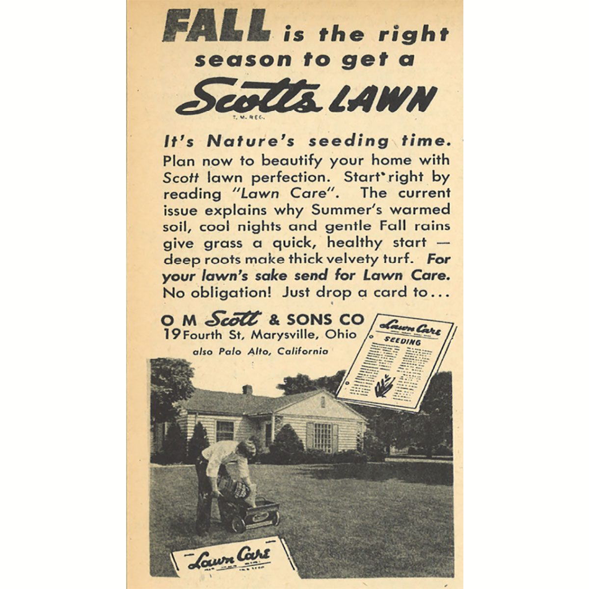 An ad for Scotts Lawn care seeds | Construction Pro Tips