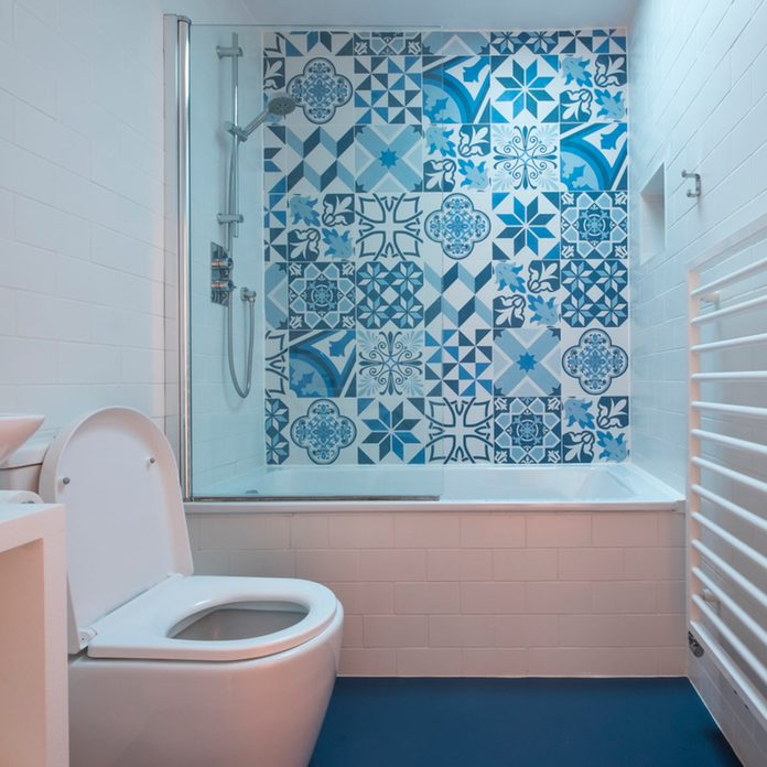 blue small master bathroom ideas