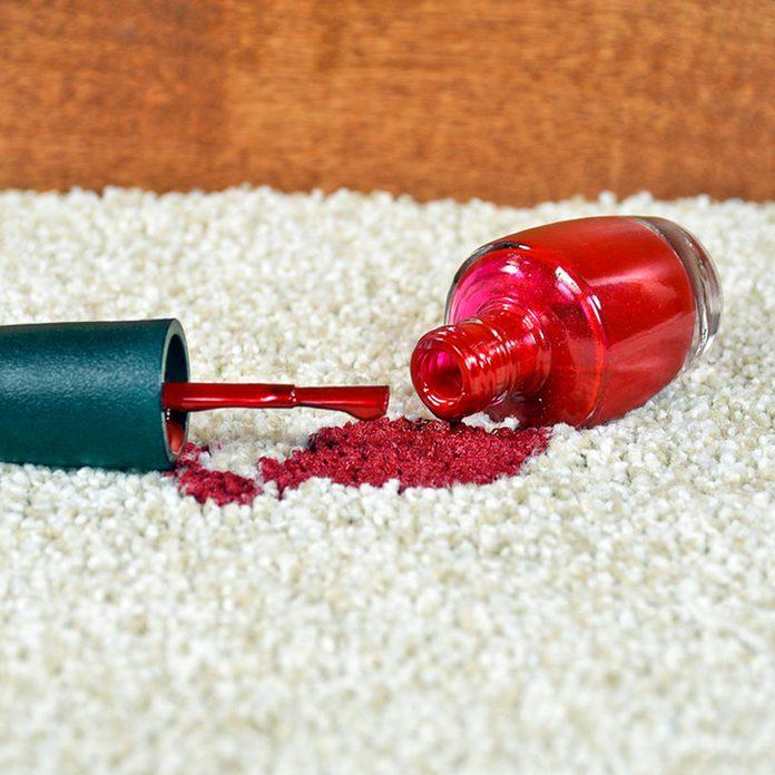 nail polish on carpet