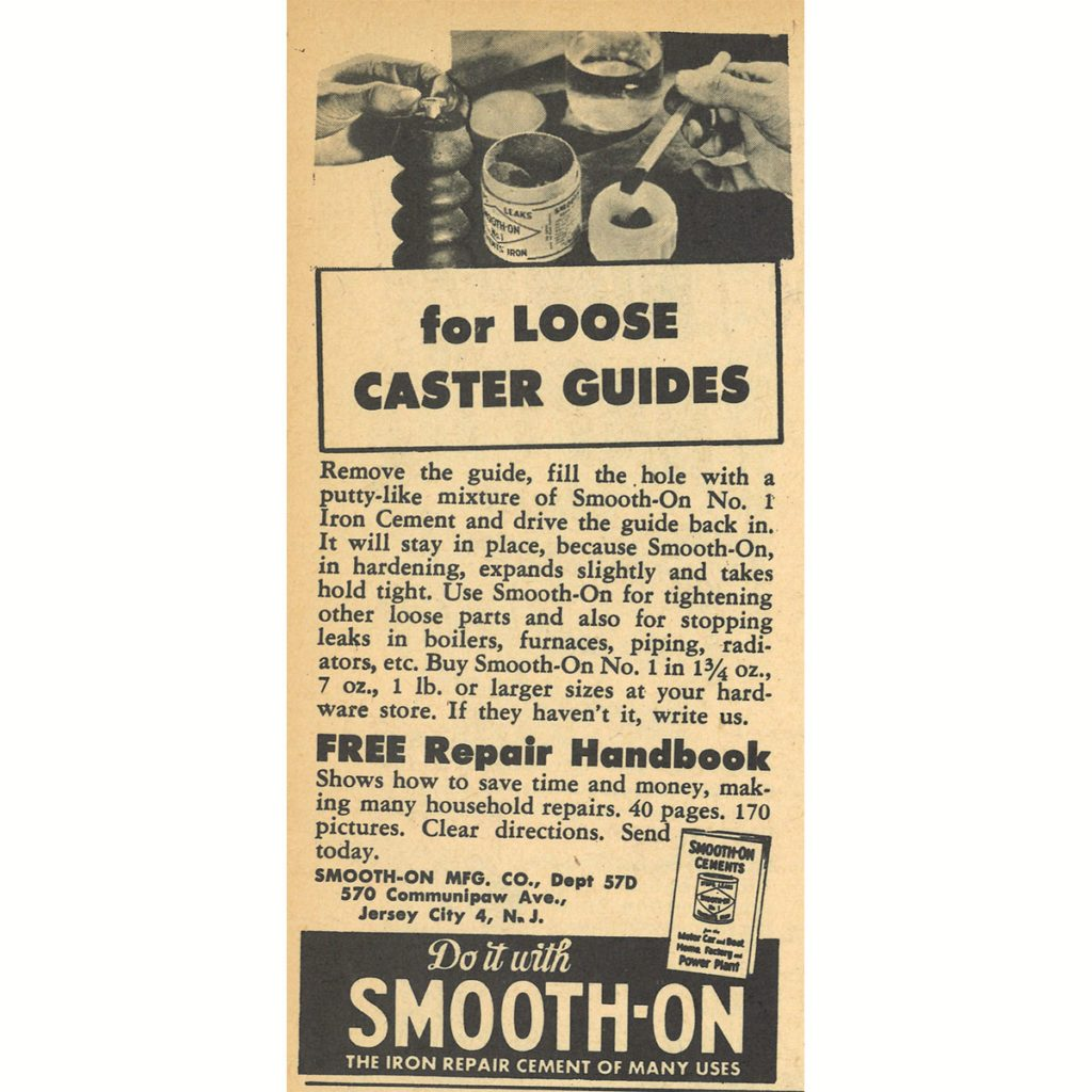 An ad for smooth on cement repair | Construction Pro Tips