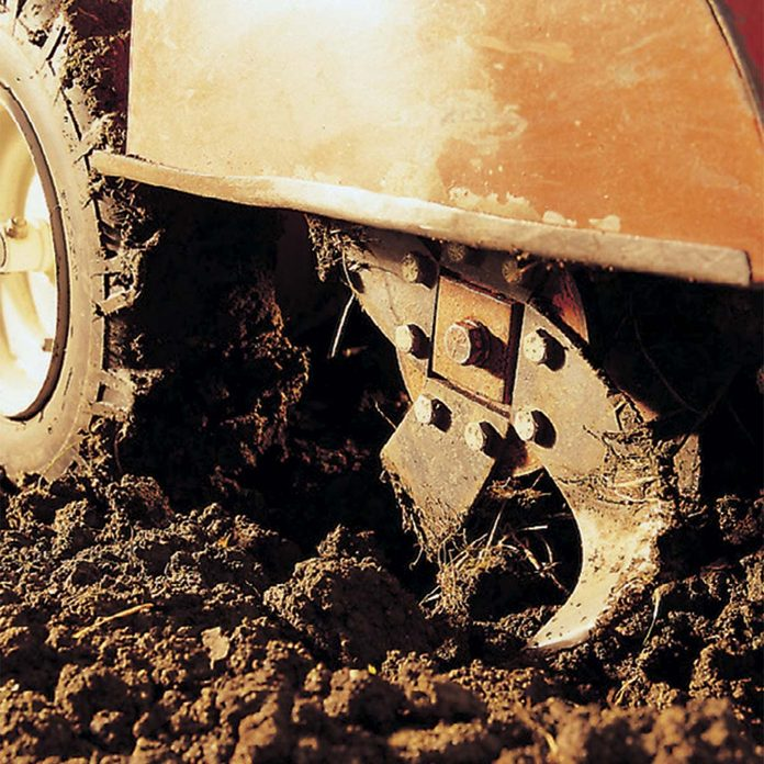 tilling soil before sod