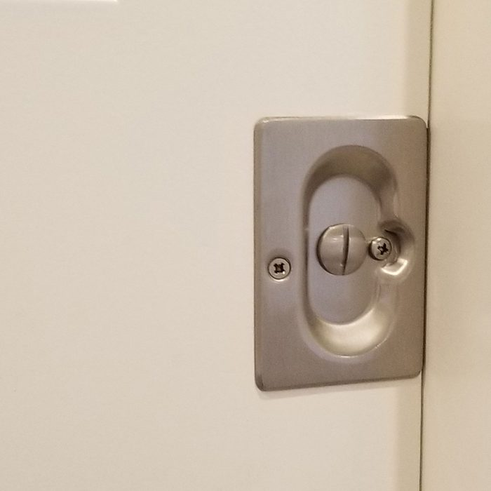 A close-up look at pocket door privacy hardware   Construction Pro Tips