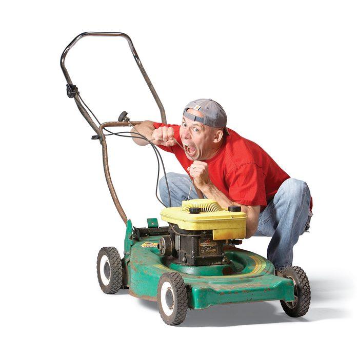 electric start lawn mower